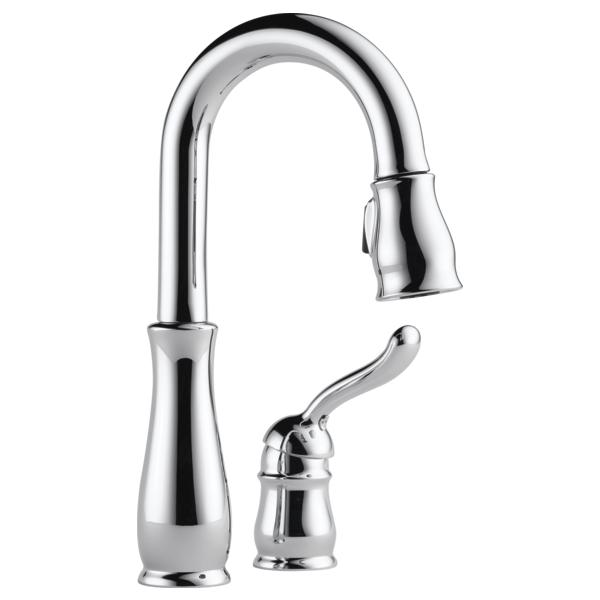 Leland Single Handle Pull-Down Bar / Prep Faucet - Chrome