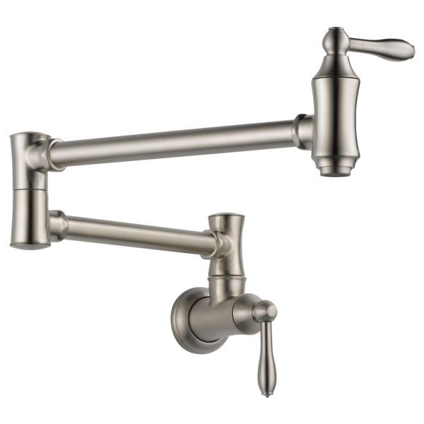 Delta Traditional Wall Mount Pot Filler - Stainless