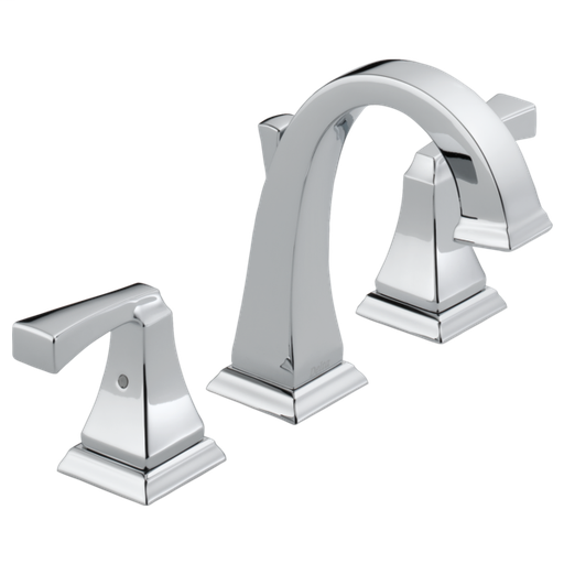 Dryden Two Handle Widespread Bathroom Faucet - Chrome