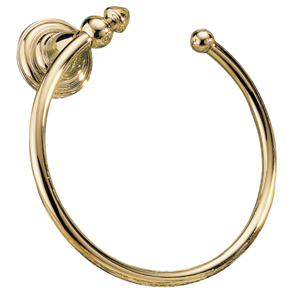 Victorian Towel Ring - Polished Brass