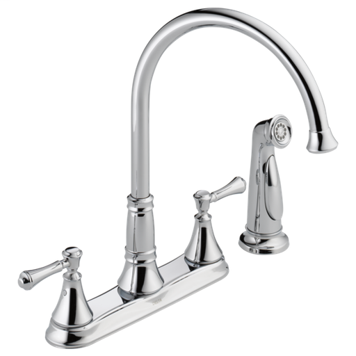 Cassidy Two Handle Kitchen Faucet with Spray - Chrome