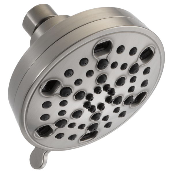 H2Okinetic 5-Setting Contemporary Shower Head - Stainless