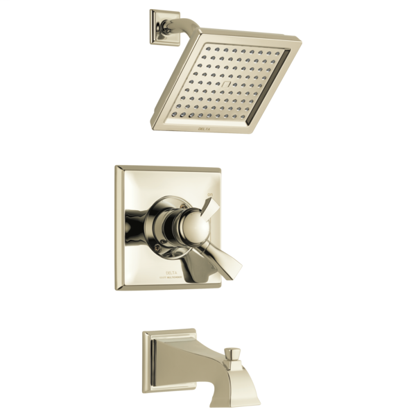 DELTA® T17451-PN Monitor® 17 Tub and Shower Trim, 2.5 gpm Shower, Brilliance® Polished Nickel