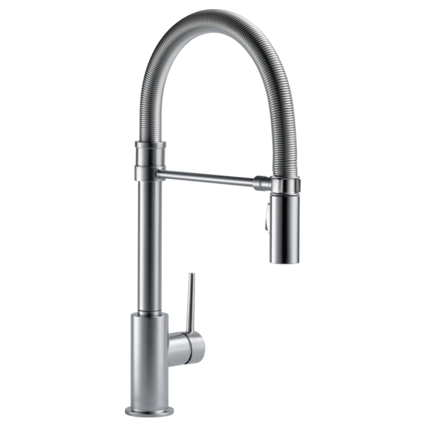 Trinsic Single Handle Pull-Down Kitchen Faucet With Spring Spout - Arctic Stainless