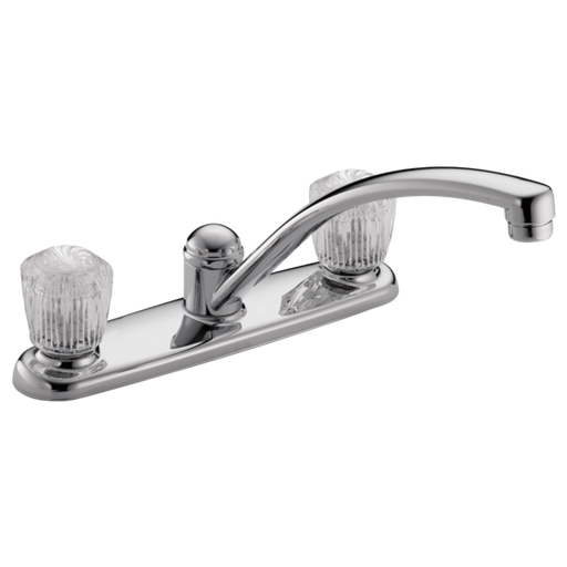 Classic Two Handle Kitchen Faucet - Chrome