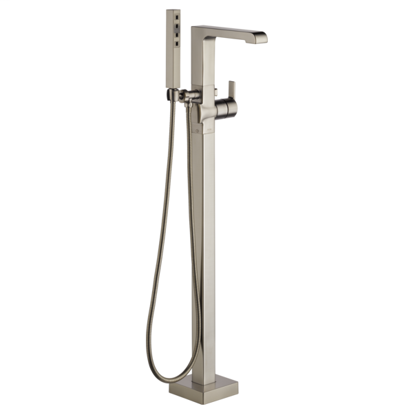 DELTA® T4767-SSFL Ara® Tub Filler, 2 gpm Flow Rate, Brilliance® Stainless Steel, 1 Handles, Domestic, Commercial