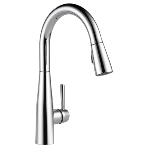 Essa Single Handle Pull-Down Kitchen Faucet - Chrome