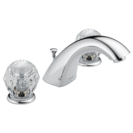 Classic Two Handle Widespread Bathroom Faucet - Chrome