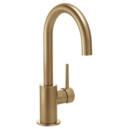 Contemporary Single Handle Bar Faucet - Champagne Bronze