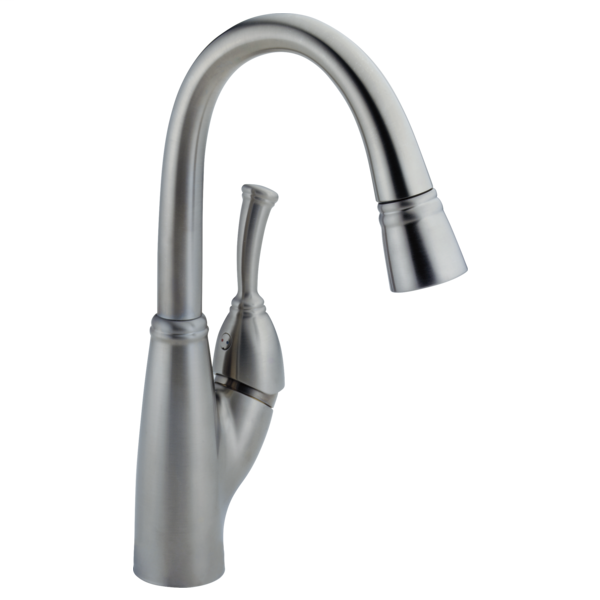 Allora Single Handle Pull-Down Bar / Prep Faucet - Arctic Stainless