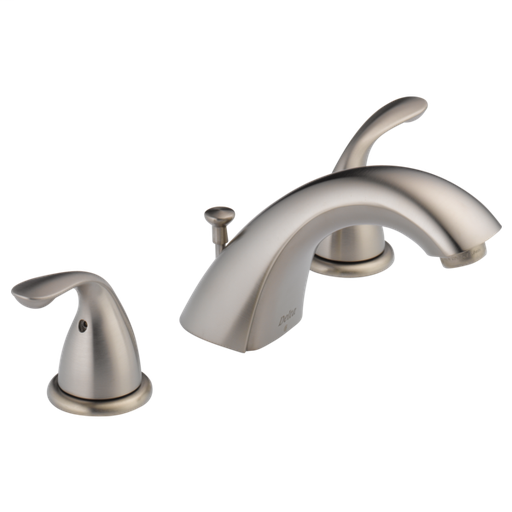 Classic Two Handle Widespread Bathroom Faucet - Stainless