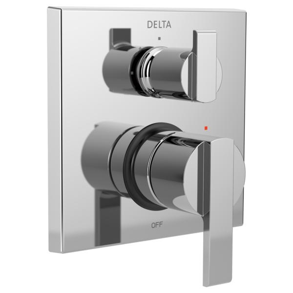 DELTA® T24867 Monitor® 14 3-Setting Angular Modern Valve Trim, Polished Chrome