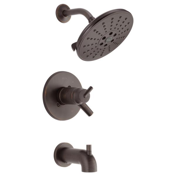 DELTA® T17T459-RBH2O TempAssure® 17T Tub and Shower Faucet Trim, 1.75 gpm Shower, Venetian Bronze