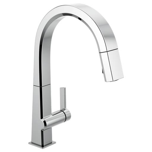 Pivotal Single Handle Pull Down Kitchen Faucet - Chrome