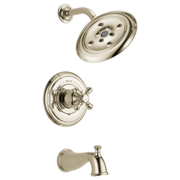 DELTA® T14497-PNLHP Monitor® 14 Tub and Shower Trim, 1.75 gpm Shower, Brilliance® Polished Nickel