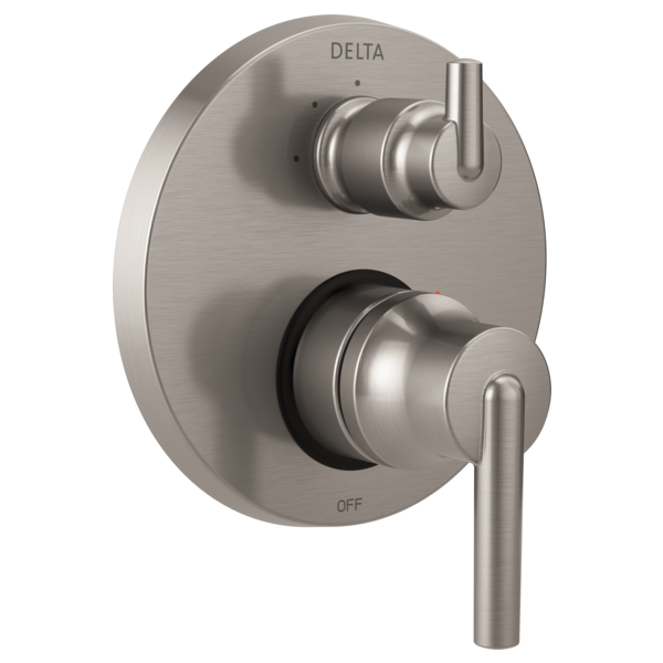 DELTA® T24859-SS Monitor® 14 3-Setting Contemporary Valve Trim, Stainless Steel