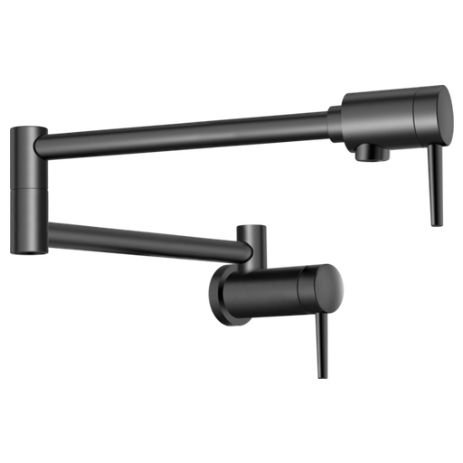 Delta Contemporary Wall Mount Pot Filler - Matte Black