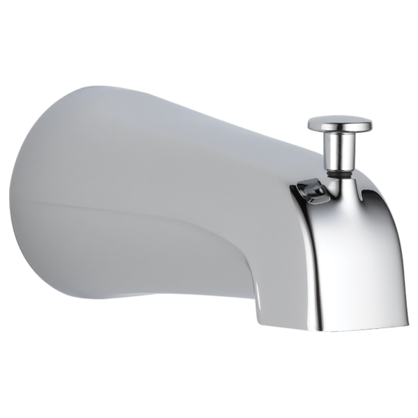DELTA® U1075-PK Pull-Up Diverter Tub Spout, 5-3/8 in L x 3-3/16 in H, For Use With Tub and Shower Faucet, Metal, Polished Chrome, Import
