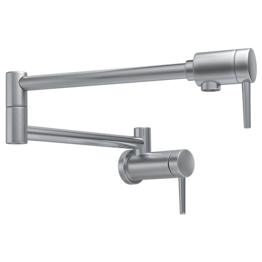 Delta Contemporary Wall Mount Pot Filler - Arctic Stainless