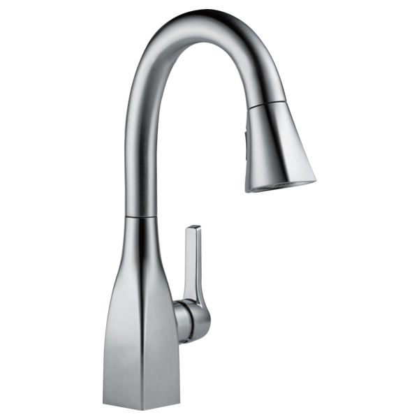 Mateo Single Handle Pull-Down Bar / Prep Faucet - Arctic Stainless