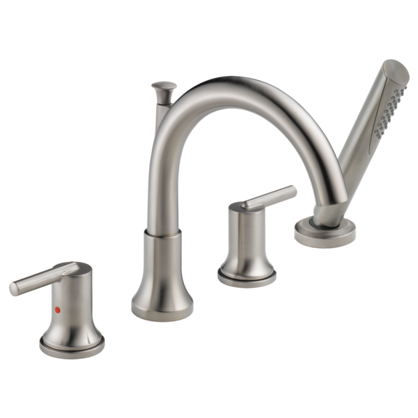 Trinsic Roman Tub with Hand Shower Trim - Stainless