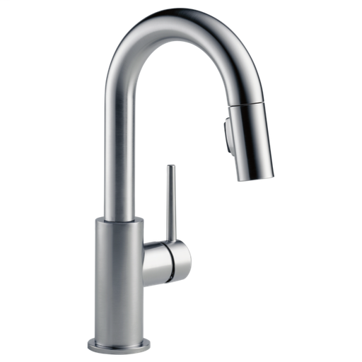 Trinsic Single Handle Pull-Down Bar / Prep Faucet - Arctic Stainless