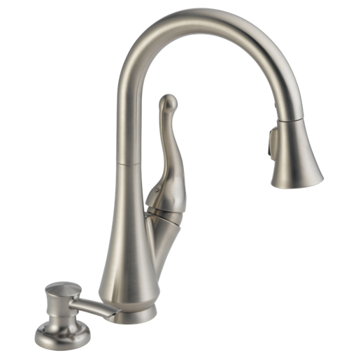 Talbott Single Handle Pull-Down Kitchen Faucet with Soap Dispenser - Stainless