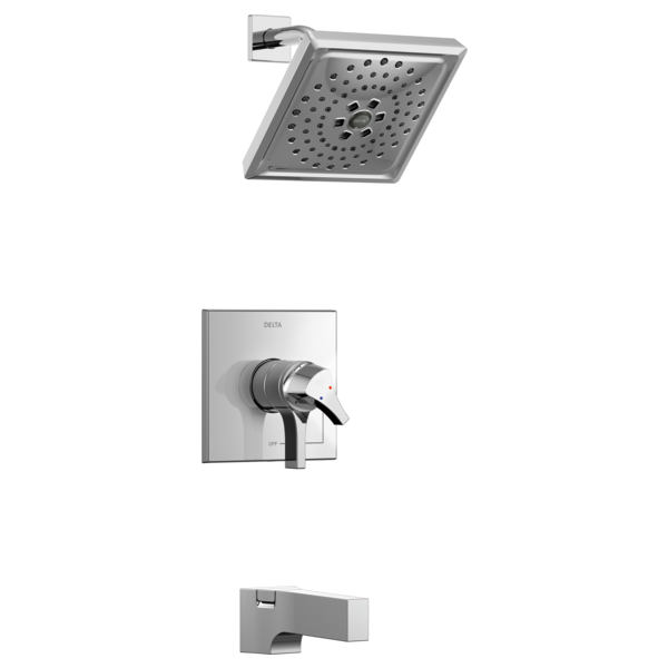 DELTA® T17474 Monitor® 17 Tub and Shower Faucet Trim, 1.75 gpm Shower, Polished Chrome