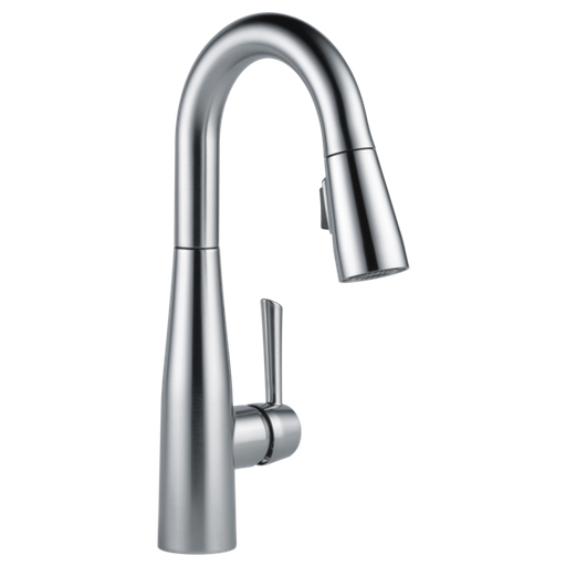 Essa Single Handle Pull-Down Bar / Prep Faucet - Arctic Stainless