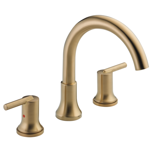 DELTA® T2759-CZ Roman Tub Trim, Trinsic®, 1.75 gpm Flow Rate, 8 to 16 in Center, Champagne Bronze, 2 Handles, Function: Traditional, Domestic