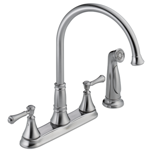 Cassidy Two Handle Kitchen Faucet with Spray - Arctic Stainless