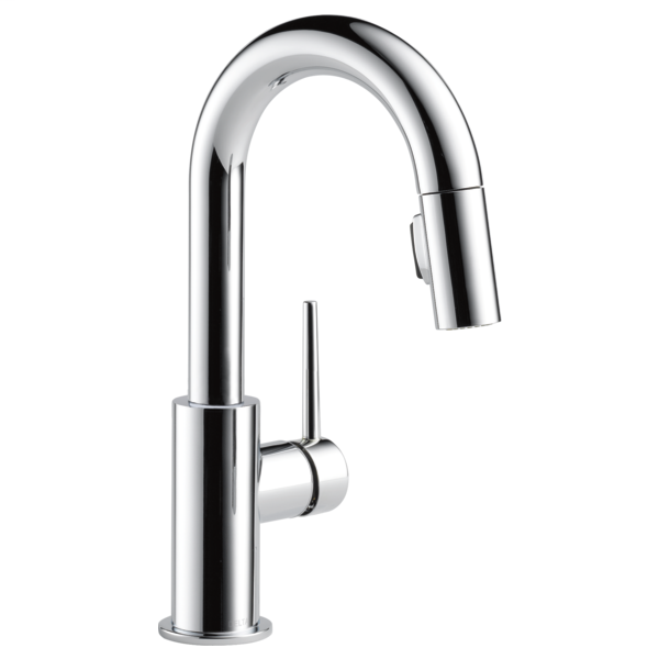 Trinsic Single Handle Pull-Down Bar / Prep Faucet - Chrome