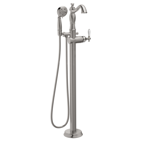 DELTA® T4797-SSFL-LHP Cassidy™ Traditional Tub Filler Trim, 1.75 gpm Flow Rate, Stainless Steel, Domestic, Commercial