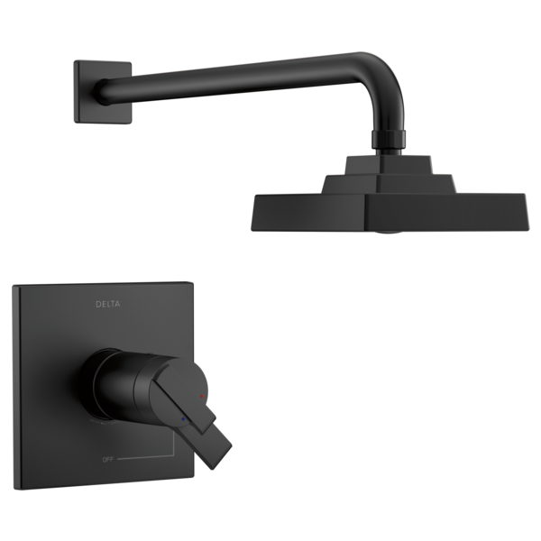 DELTA® T17T267-BL 17T Volume Control Shower Trim, 1.75 gpm Shower, Matte Black