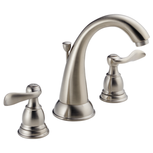 Windemere Two Handle Widespread Bathroom Faucet - Stainless