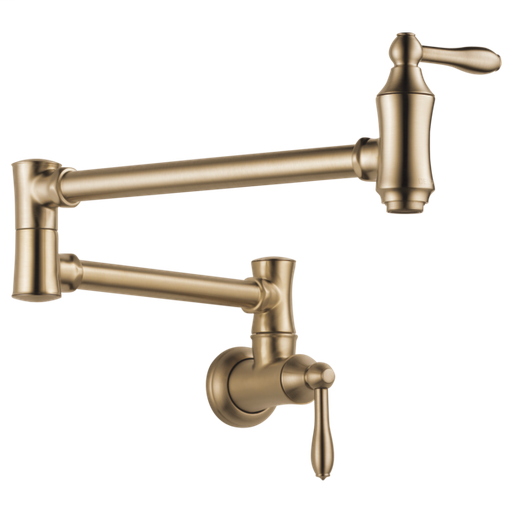 Delta Traditional Wall Mount Pot Filler - Champagne Bronze