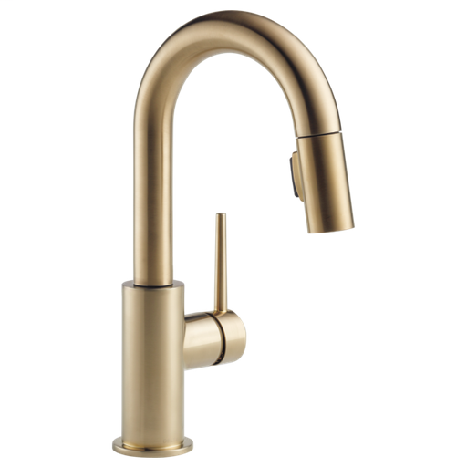Trinsic Single Handle Pull-Down Bar / Prep Faucet - Champagne Bronze