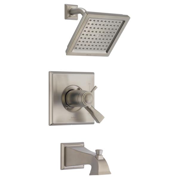 DELTA® T17T451-SP TempAssure® 17T Tub and Shower Trim, 2.5 gpm Shower, SpotShield® Stainless Steel