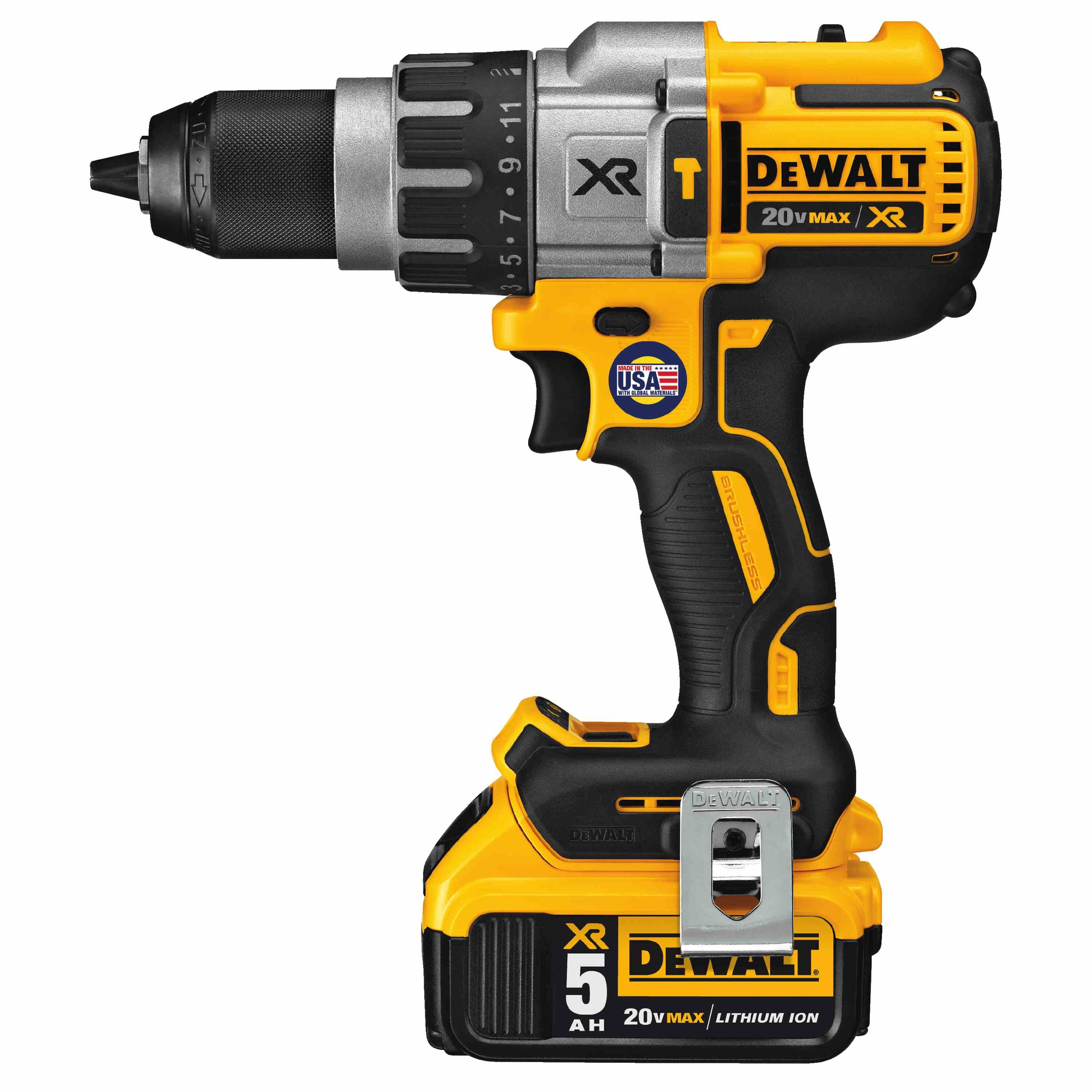 DWLT DCD996P2 20V MAX XR LITHIUM ION BRUSHLESS PREMIUM 3-SPEED HAMMERDRILL KIT (5.0AH)
