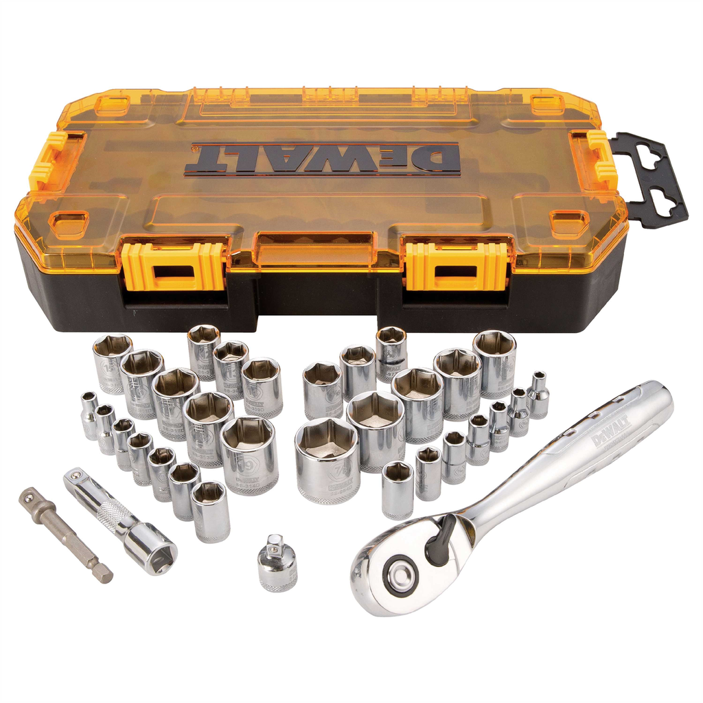 DEWALT DWMT73804 1/4 and 3/8 Inch Driver Socket Set