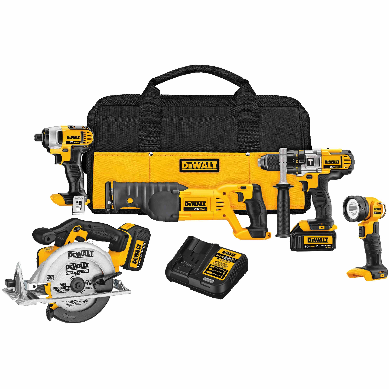 DeWalt,DCK592L2,20V MAX* Premium 5-Tool Combo Kit