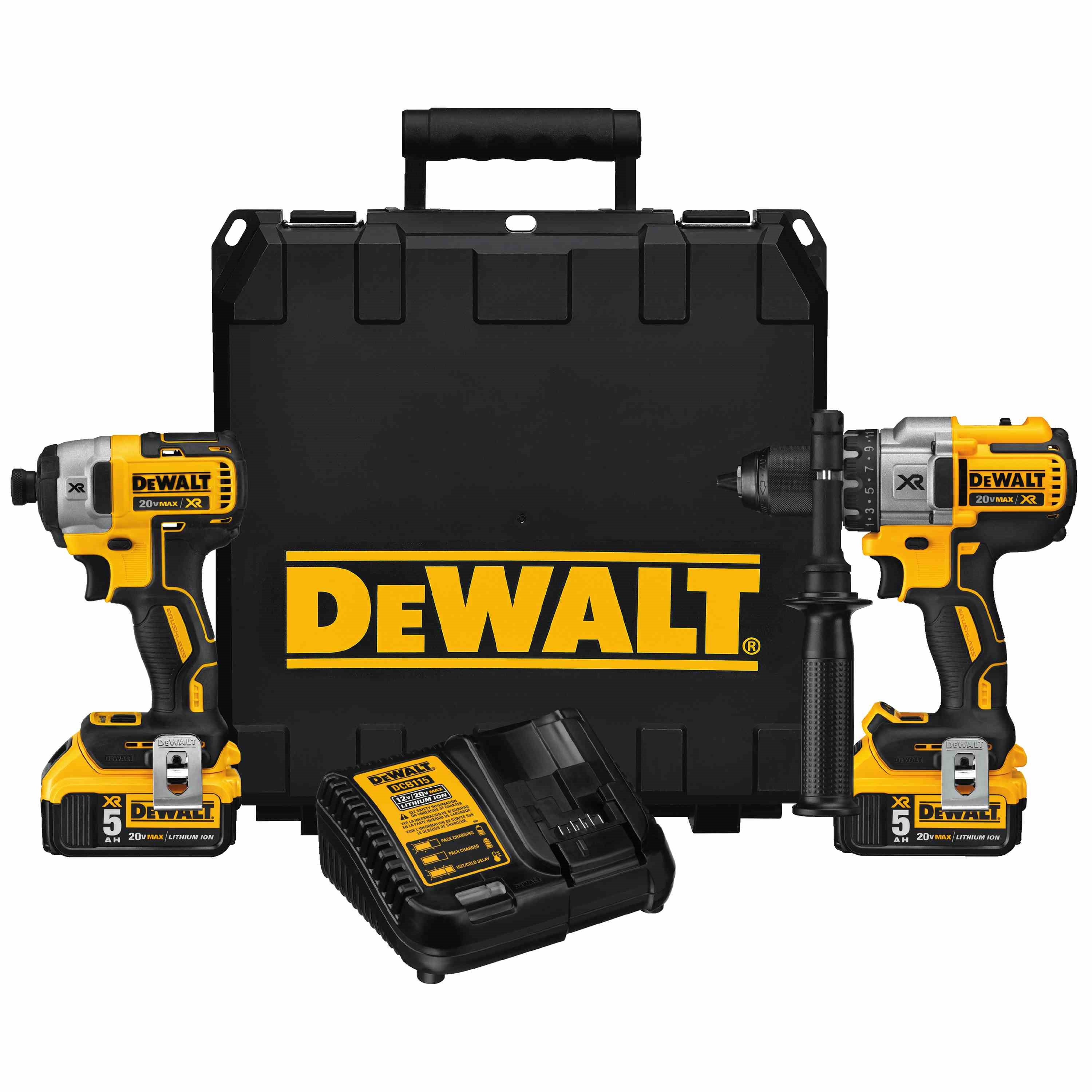 DWLT DCK299P2 20V MAX XR LITHIUM ION BRUSHLESS HAMMERDRILL / IMPACT DRIVER COMBO KIT (5.0AH KIT BOX)