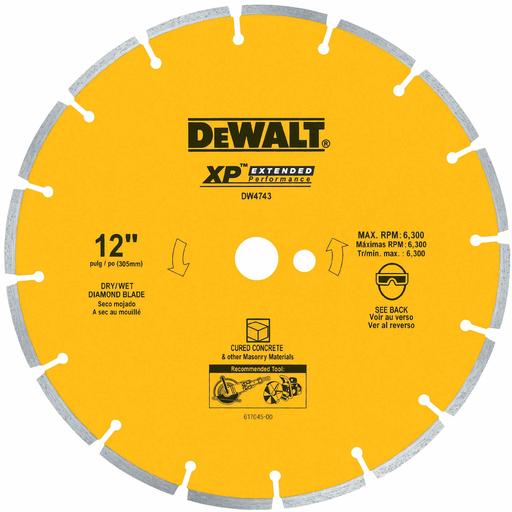 "12"" XP cured concrete segmented diamond blade"