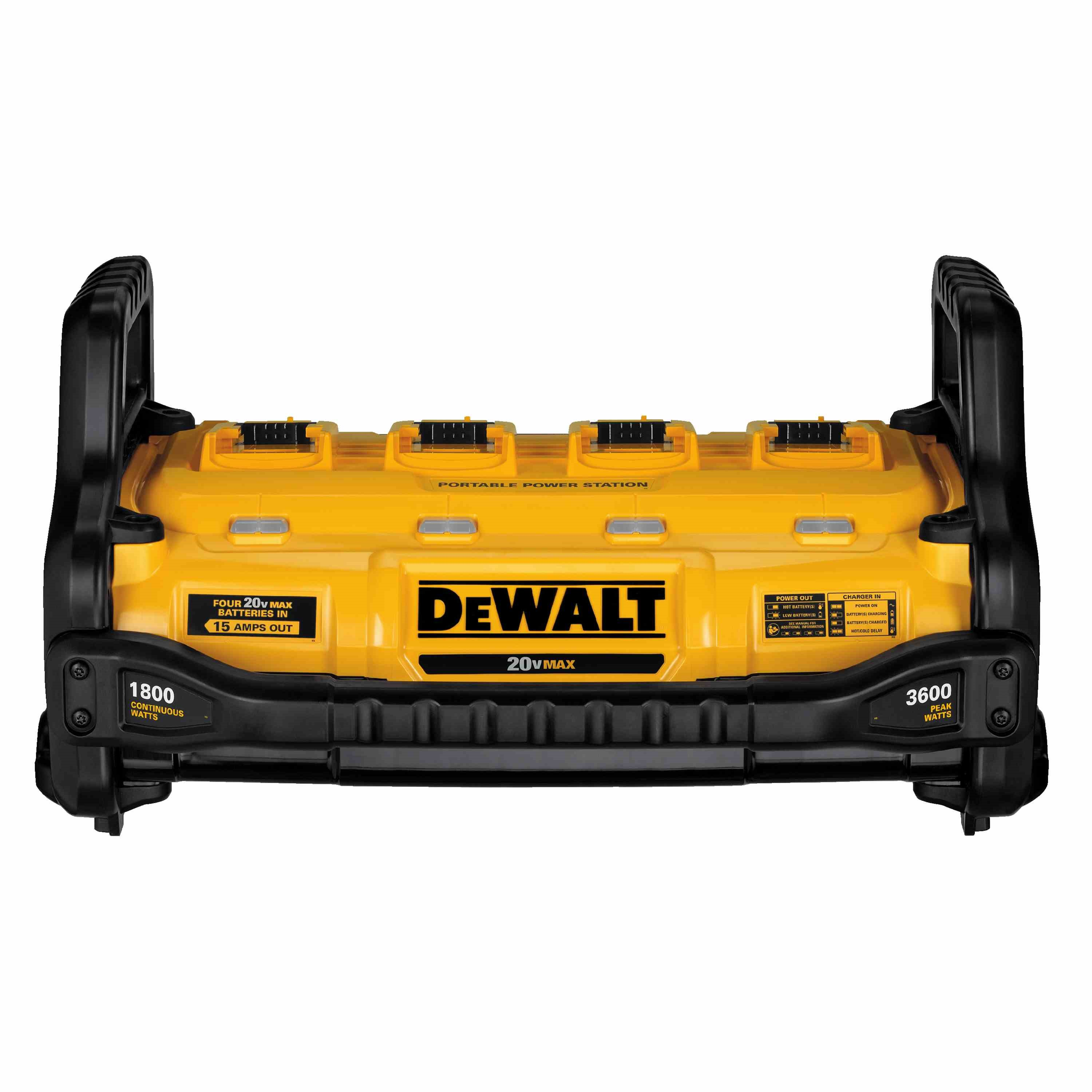 DEWALT 1800 Watt Portable Power Station and Parallel Battery Charger