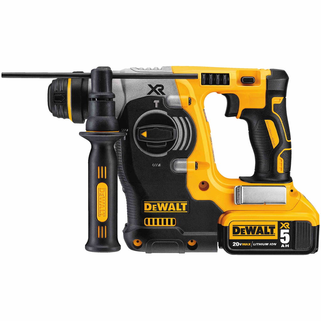 DEWALT DCH273P2 DEWALT 20 Volt Max Brushless SDS Rotary Hammer with 5 Ah Battery