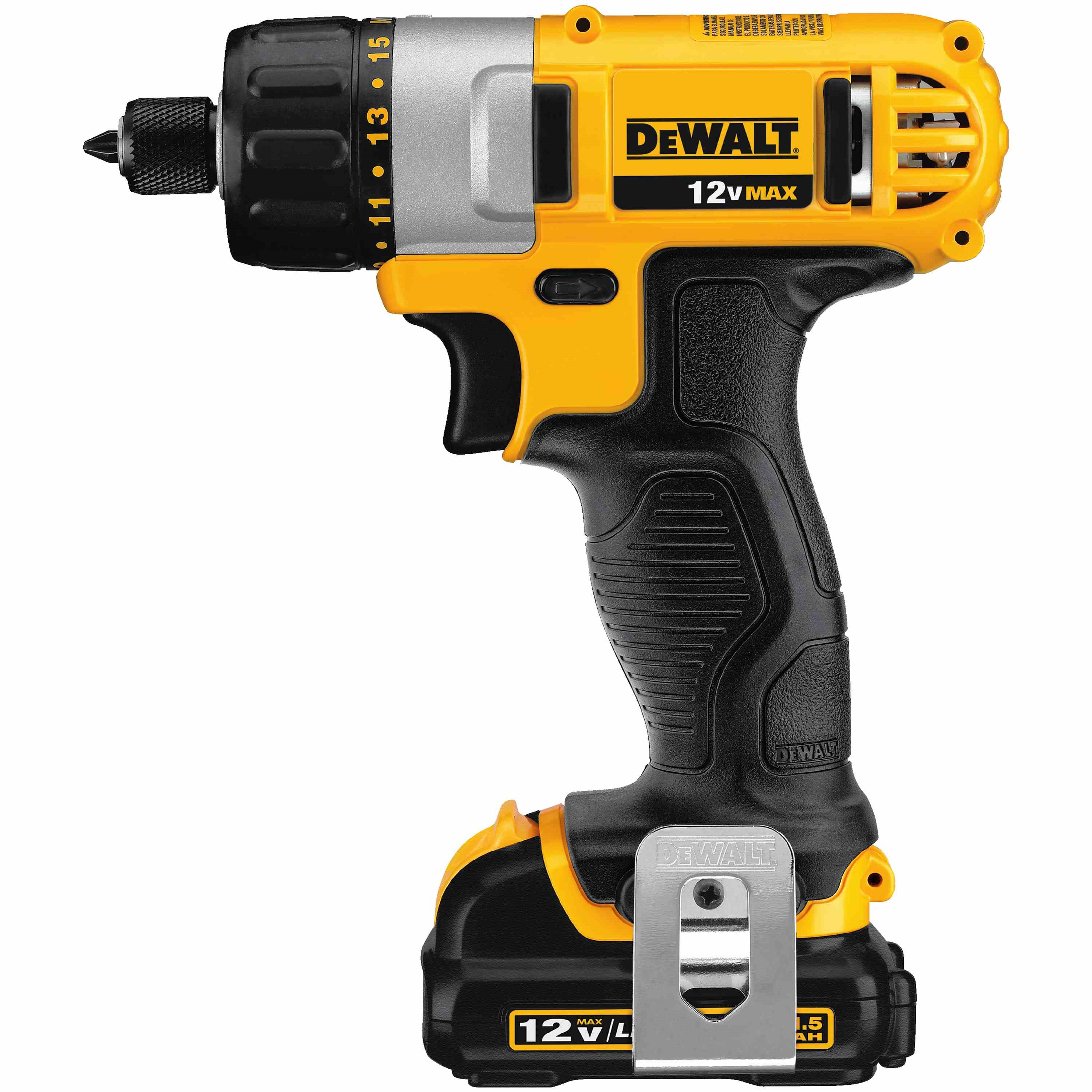 DWLT DCF610S2 SCREWDRIVER KIT,DEWALT,12 V MAX,0 - 1050 RPM (NO LOAD),LITHIUM ION BAT