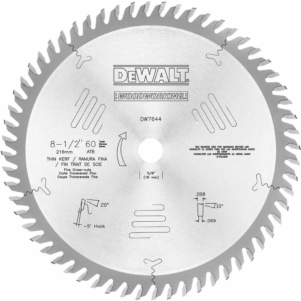 """DIT DW7644 8 1/2"""" 60T Fine cross c"""