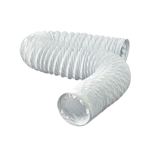 Flexible White Vinyl Duct