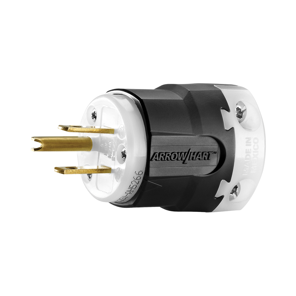 Arrow Hart Wiring AH5266 2-Pole 3-Wire 15 Amp 125 Volt Straight Blade Plug