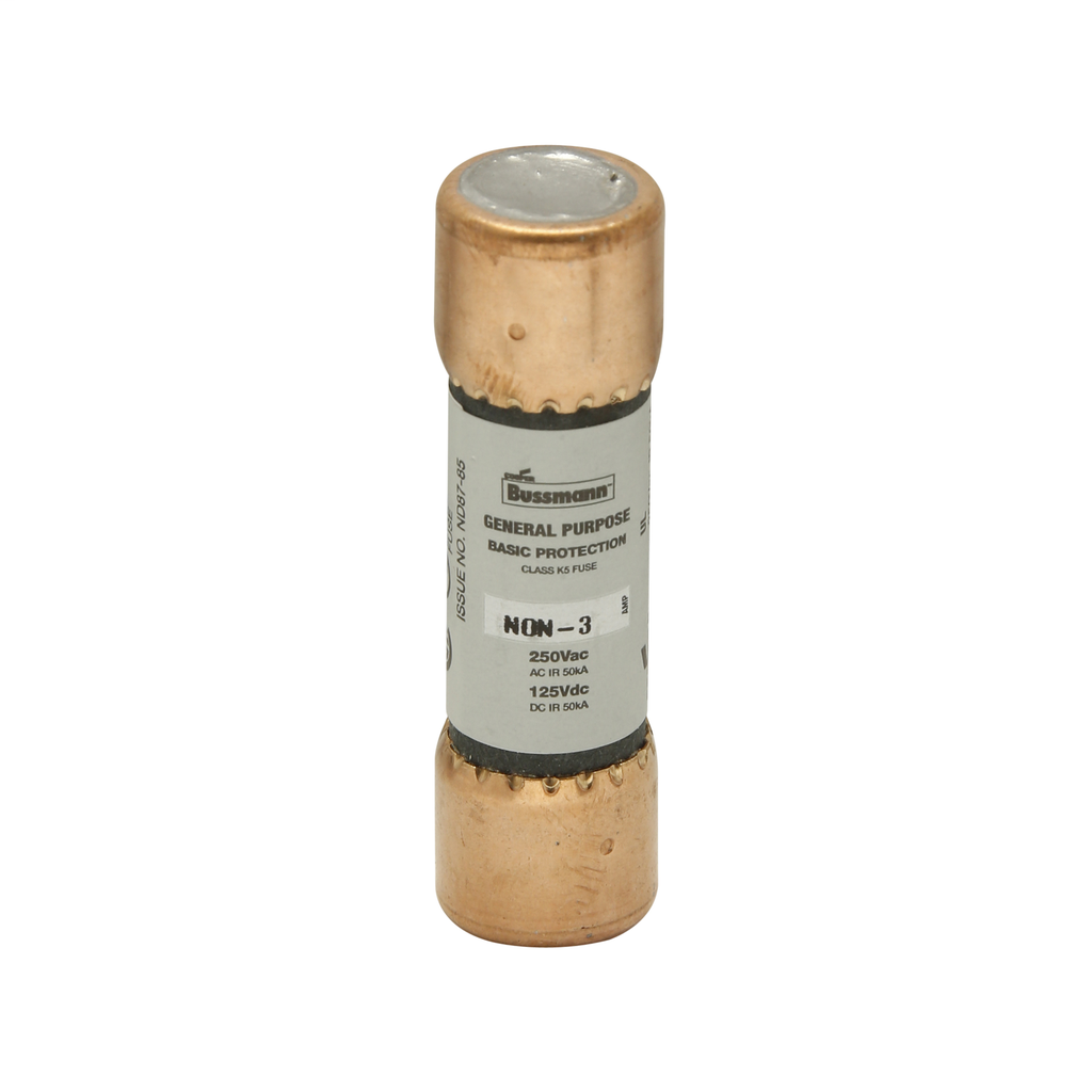 BUSSMANN NON3 250V CLASS H ONE-TIME GENERAL PURPOSE FUSE